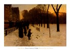 Boston Common at Twilight, 1885-86 by Childe Hassam art print