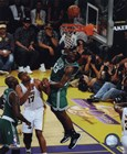 Kendrick Perkins Game Two of the 2009-10 NBA Finals(#4) art print